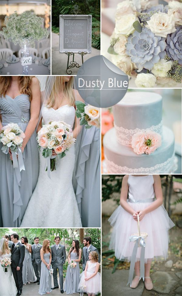 Top 10 Wedding Colors 2014 Dusty Blue Wedding Inspiration