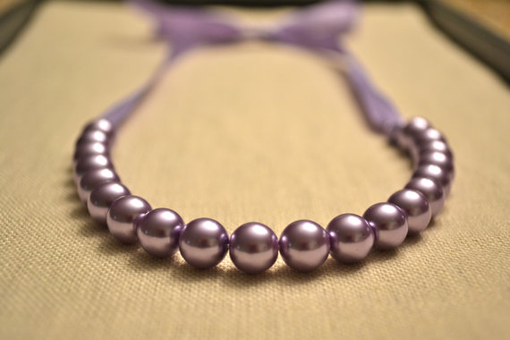 Swarovski Lavander Pearl Necklace