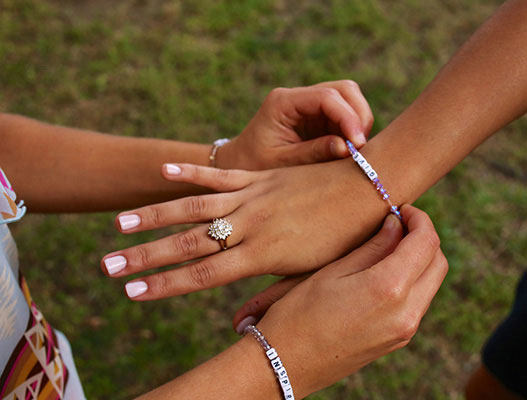 The Little Words Project Swarovski Friendship Bracelets Share