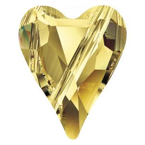 Swarovski Heart Bead Light Topaz