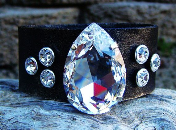 Crystal Riveted Bracelet