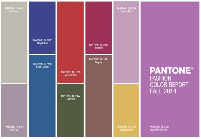 Pantone Autumn 2014 Colors