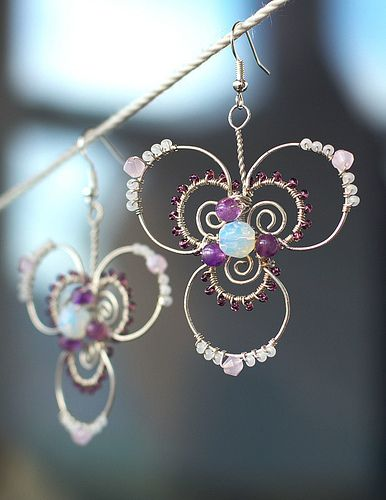 Swarovski Crystal wire wrapped earrings