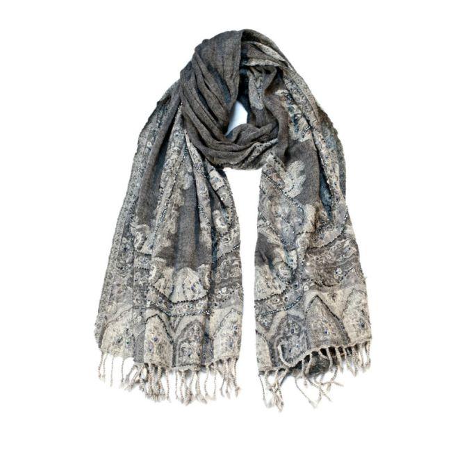 Swarovski embellished Pashmina scarf