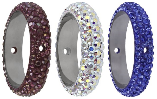 Swarovski Crystal 85 001 BeCharmed Pave Thread Ring Bead New Innovations Fall Winter 2015-16