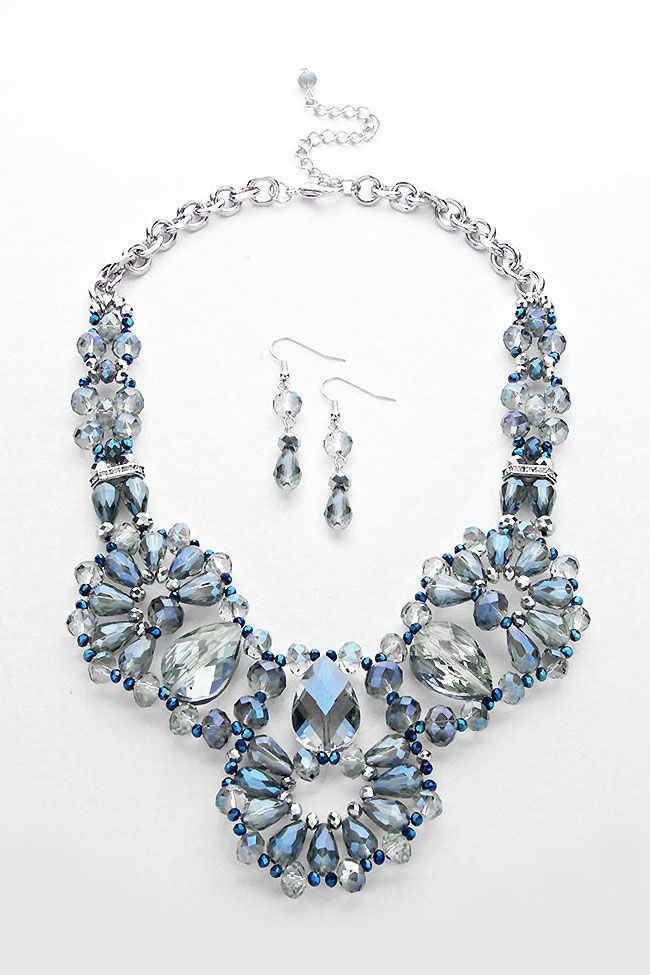 Swarovski Crystal Blue Necklace Design Inspiration