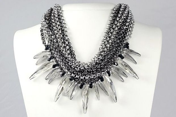 Swarovski crystal and chain necklace