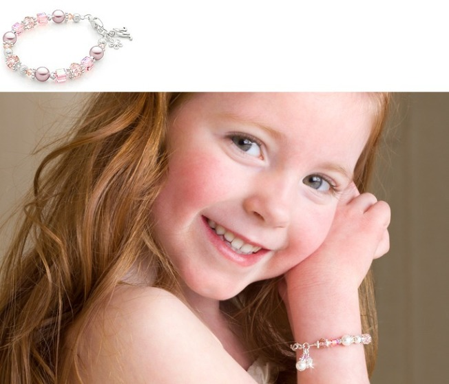 Tiny Blessings personalized jewelry made with Swarovski Crystal Elements designer bracelets