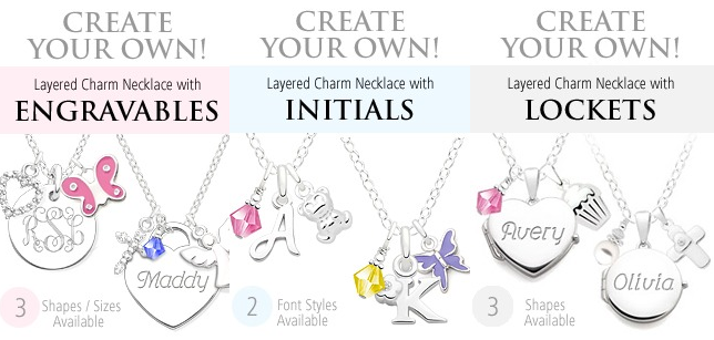 Tiny Blessings personalized jewelry made with Swarovski Crystal Elements for tweens and teens designer charm necklaces