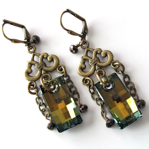 Swarovski Crystal tabac earrings