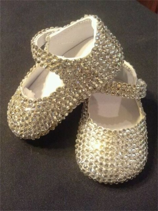 Swarovski Crystal Baby Shoes gift idea DIY