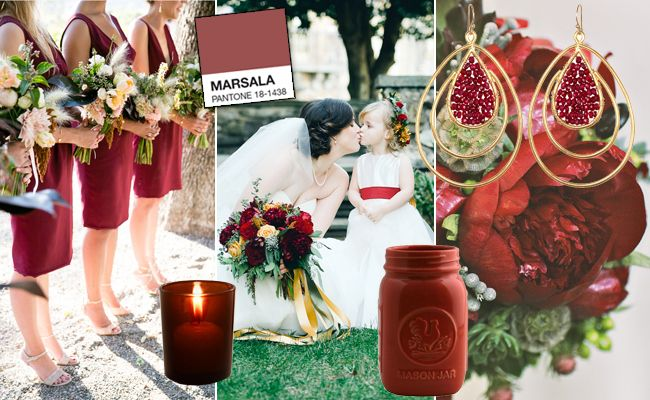 Marsala Wedding Inspirations
