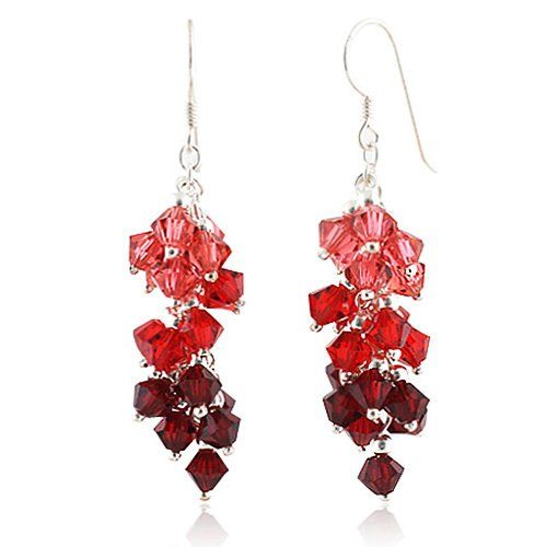 Swarovski Crystal Dangle earrings for marsala inspired jewelry
