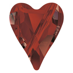 Swarovski Crystal Red Magma Heart