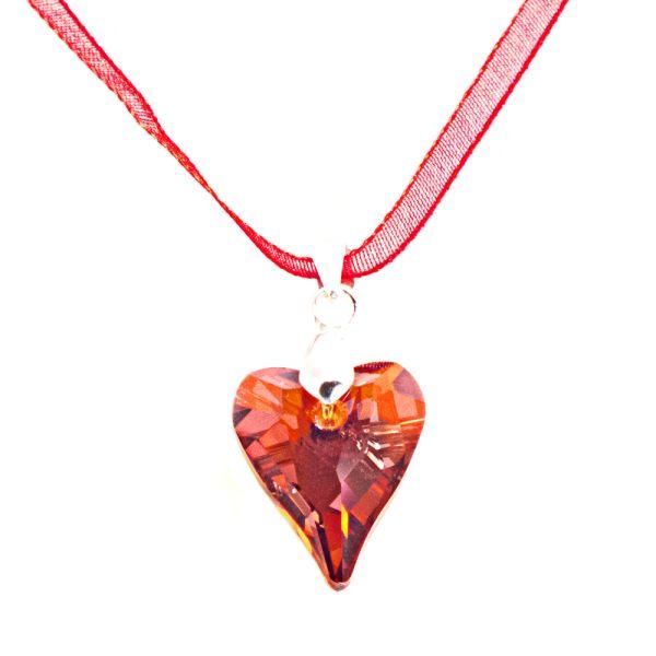 Swarovski Crystal Red Magma Wild Heart Pendant