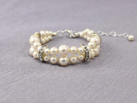 Swarovski Crystal and Pearl Wedding Jewelry