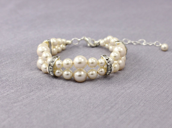 Swarovski Crystal and Pearl Wedding Jewelry