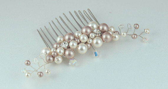 Swarovski Crystal Bridal comb hair accessories from Garden of Flowers