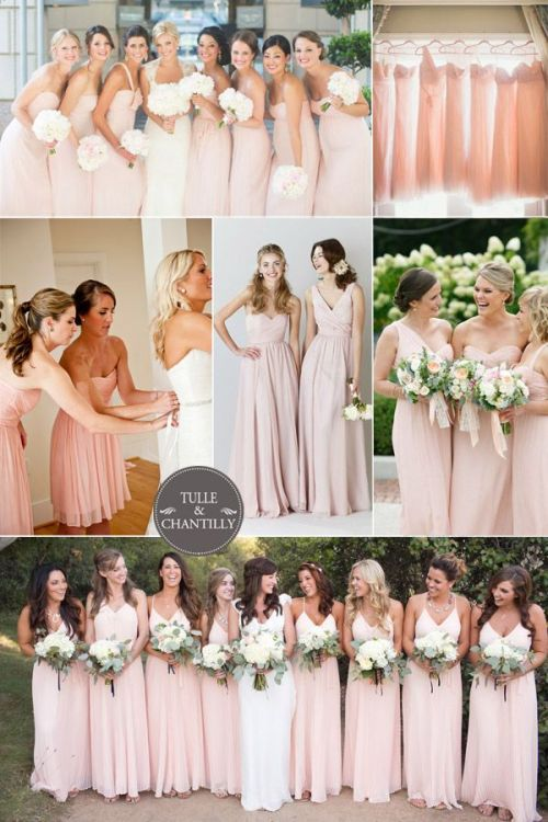 Blush Rose Bridesmaids dresses