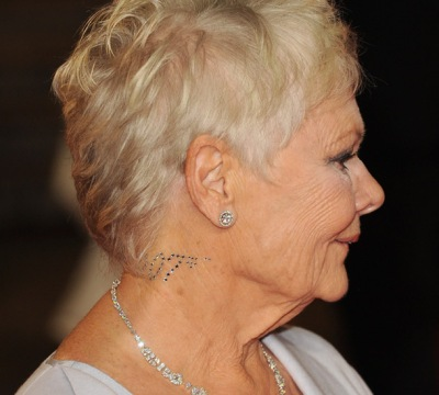 judi-dench-Swarovski Crystal Body Tattoo