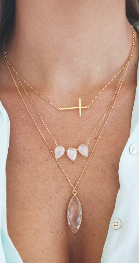 Layered necklace delicate jewelry trend
