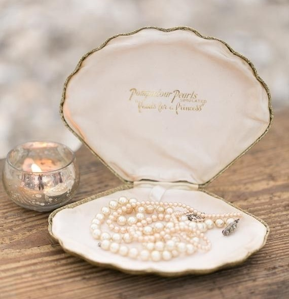 Sea Shell  presentation for Pearl Necklace