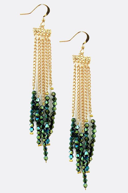 Swarovski Bicone Dangle Earrings
