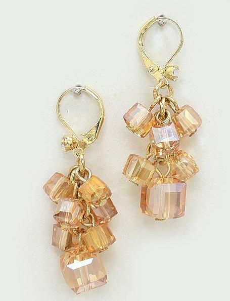 Swarovski Crystal Cube Beads
