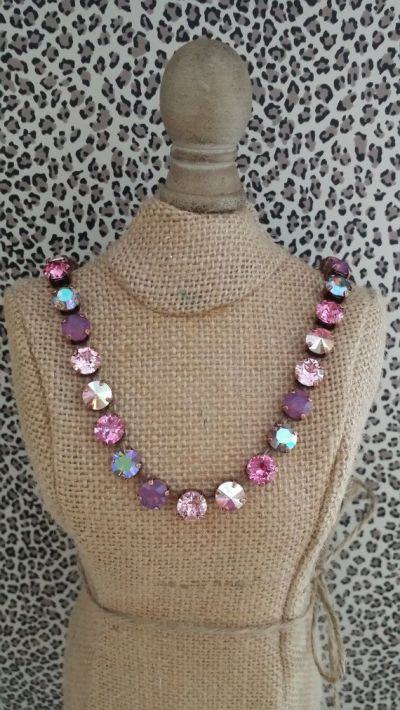 Swarovski Crystal Round Stone Necklace