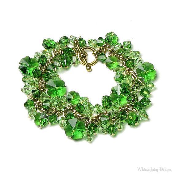 Swarovski Crystal St. Patricks Day Bracelet