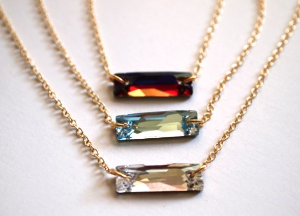 Swarovski Sew On Stone Necklaces Layered - Jewelry Trend 2015