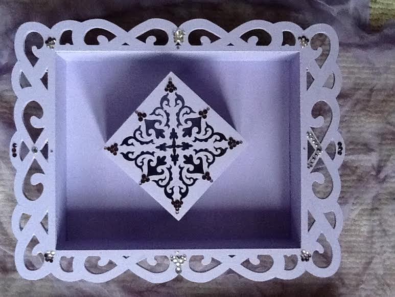 DIY Lavendar frame and crystal embellished box from Rainbows of Light