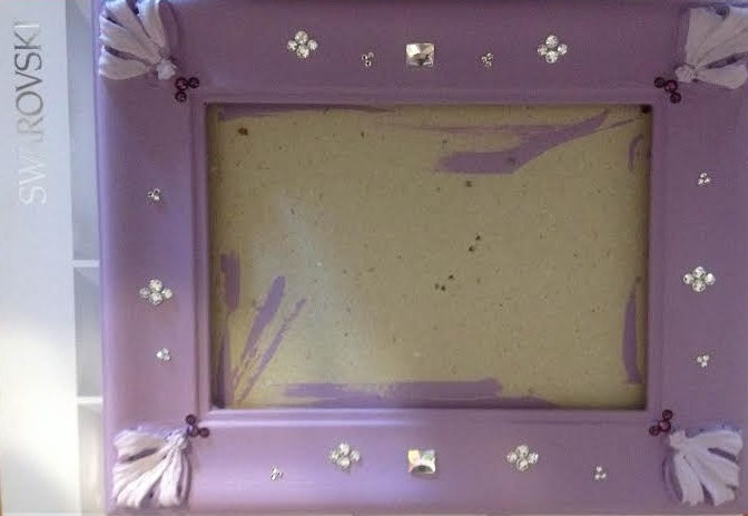 DIY painting frames and adding Swarovski Crystals Flatbacks from Rainbows of Light