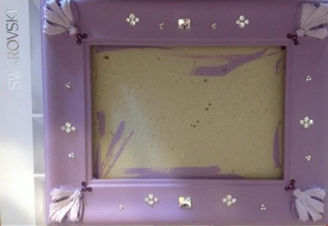 DIY painting frames and adding Swarovski Crystals Flatbacks from Rainbows of Light