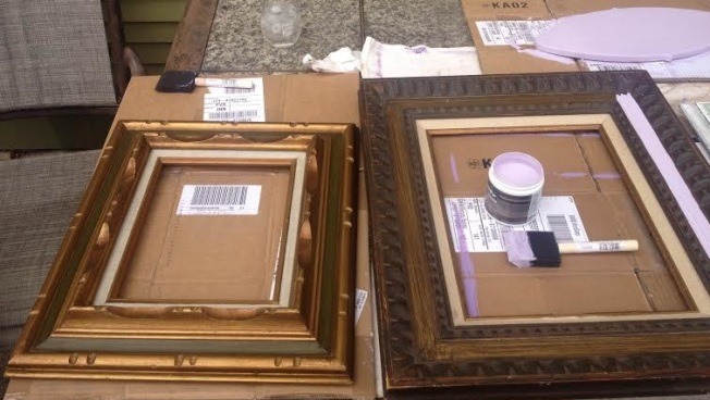 DIY painting frames for tradeshow from Rainbows of Light