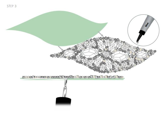 DIY Swarovski Crystal wedding Head Band Piece Step 3