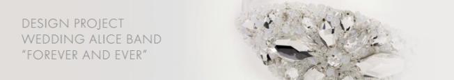 DIY Swarovski Crystal wedding Head Band Piece Step 5