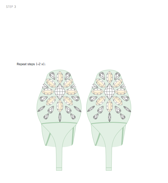 DIY Swarovski Crystal Wedding Shoes Step 3