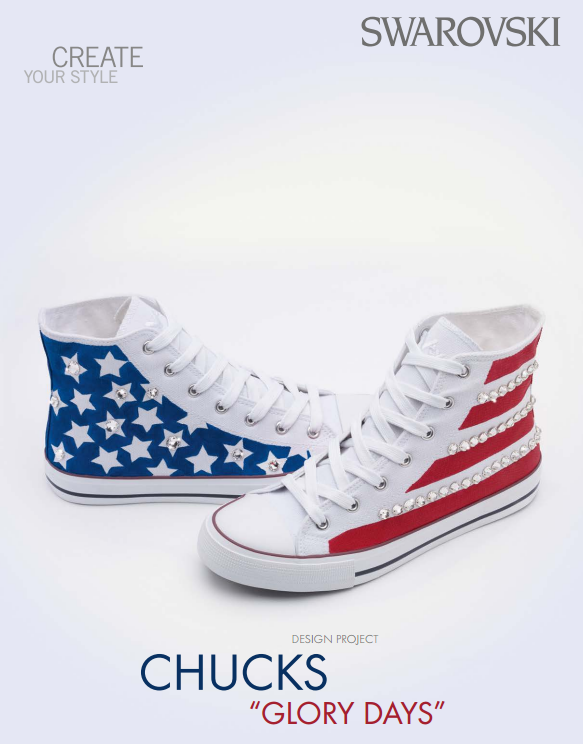 DIY 4th of July Chuck Taylor Swarovski Crystal Shoes