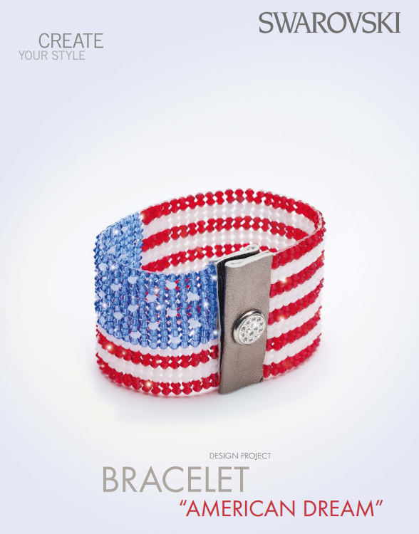DIY American Dream Swarovski Crystal Bracelet