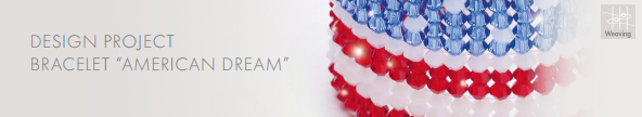 DIY American Dream Swarovski Crystal Flag Bracelet