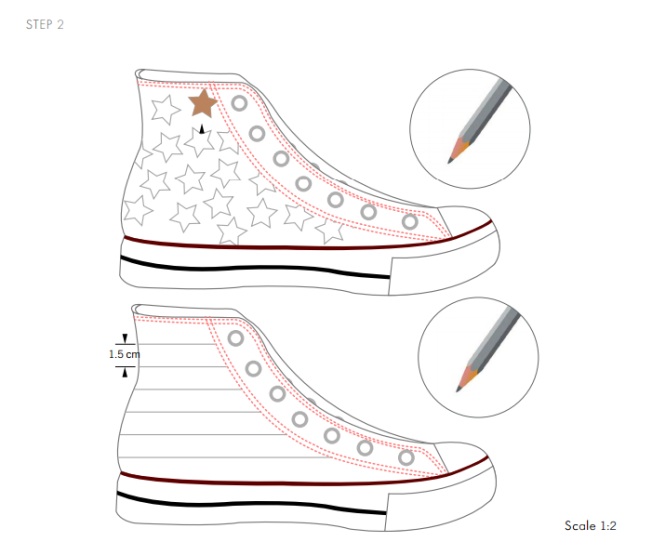 DIY Swarovski Crystal Chuck Taylor Shoes design and instructions page 2