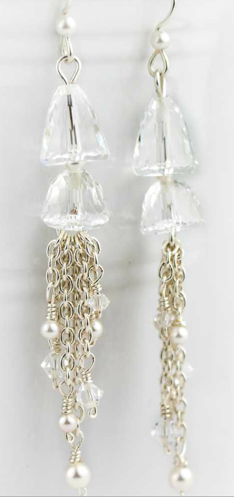 DIY Swarovski Crystal Dangle Earrings Design and Instructions