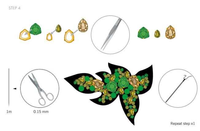 DIY Swarovski Crystal Flip Flops Design and Instructions Step 4