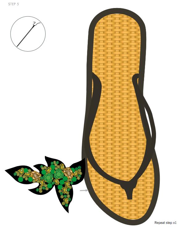 DIY Swarovski Crystal Flip Flops Design and Instructions Step 5