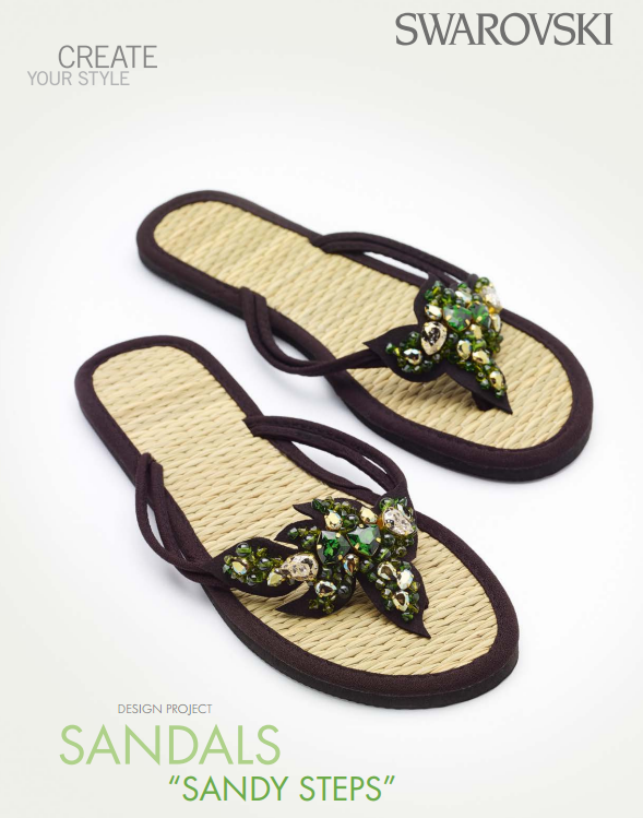 DIY Swarovski Crystal Flip Flops Design and Instructions