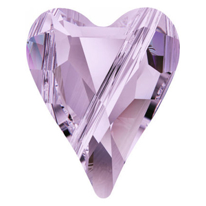 Swarovski Violet Heart Bead