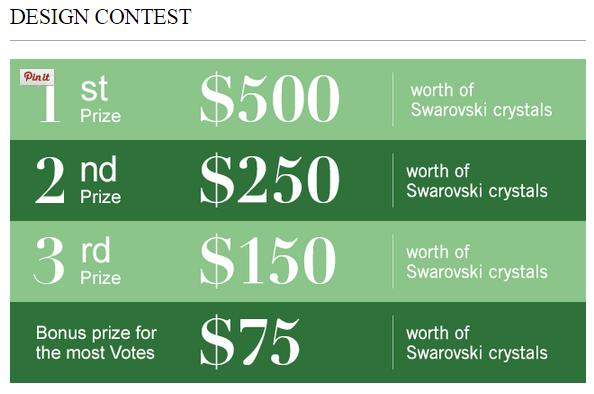 Swarovski Crystal 2015 Design Contest Win Crystals Now