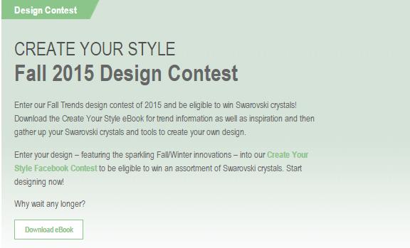 Swarovski Crystal 2015 Design Contest Win Swarovski Crystals