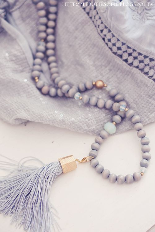 Tassel necklace lavender fashion jewelry trends